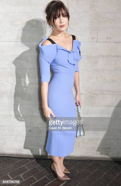 Daisy Lowe attends the Roland Mouret SS18 catwalk show during London Fashion Week September 2017 at The National Theatre on September 17 2017 in...