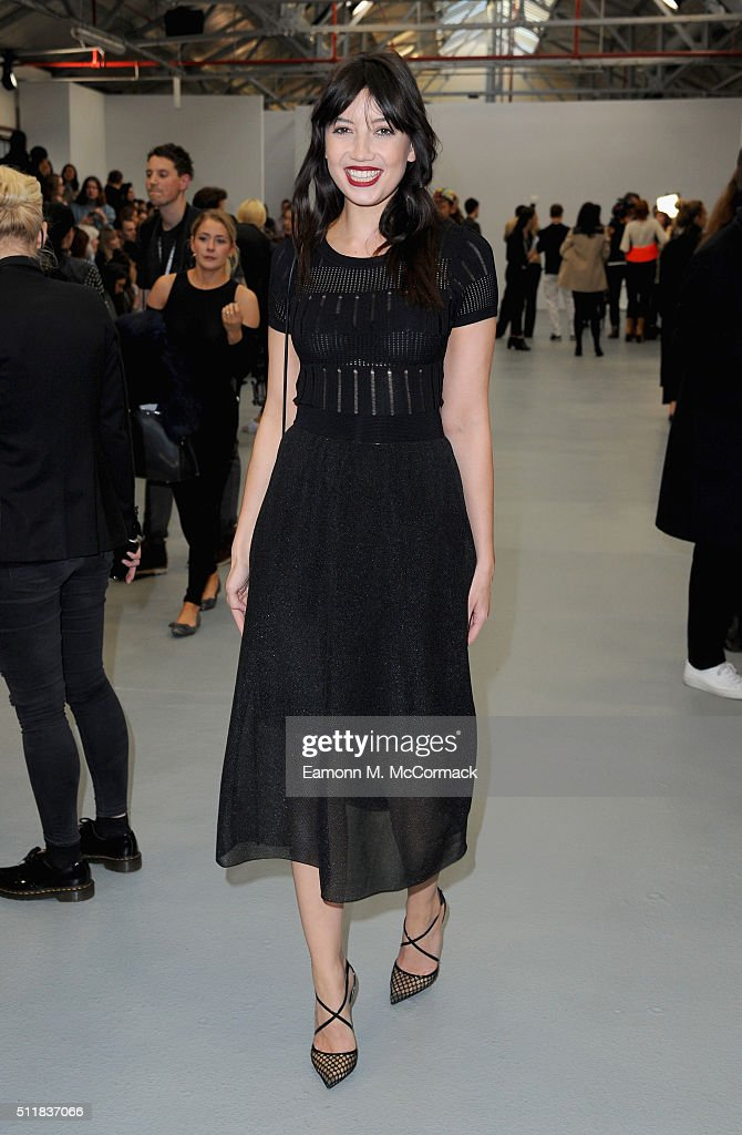 Daisy Lowe attends the runway at the Xiao Li show during London Fashion Week Autumn/Winter 2016/17 at Brewer Street Car Park on February 23 2016 in...