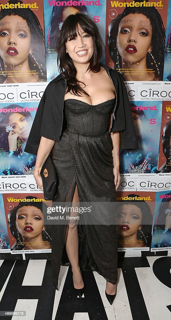 Daisy Lowe attends Wonderland Magazine's 10th anniversary party at Drama Club on September 22 2015 in London England