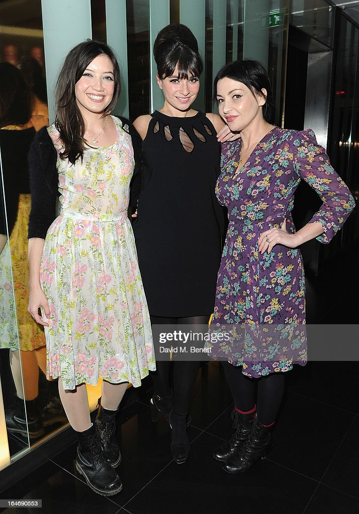 Daisy Lowe, Gizzi Erskine and Pearl Lowe at W London - Leicester Square for the launch of Gizzi Erskine's remix of the W Rock Tea and her book 'Skinny Weeks and Weekend Feasts' on March 26, 2013 in London, England.