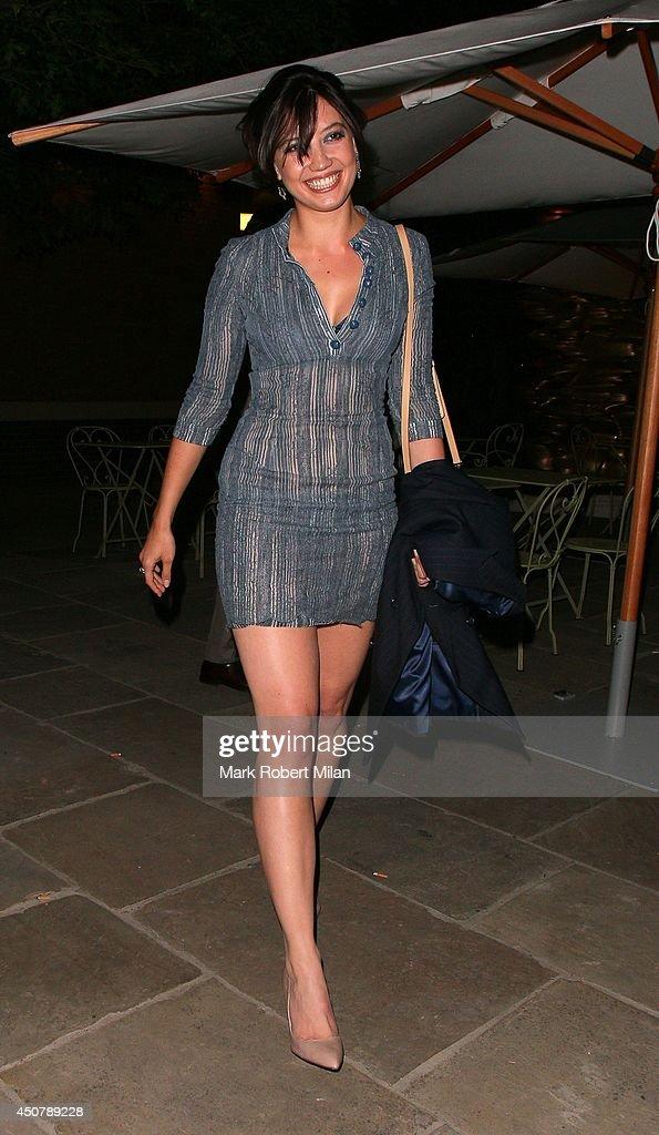 Daisy Lowe leaving the Ham Yard Hotel on June 17 2014 in London England