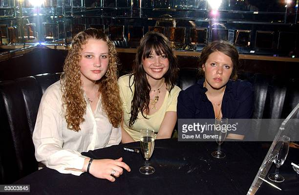 Daisy Lowe Pearl's daughter attends the VIP party for Stila Kiss It Better Campaign at Frankies Bar Grill on May 31 2005 in London England