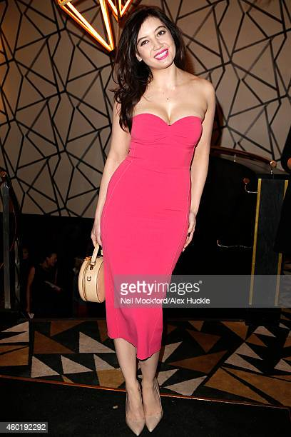Daisy Lowe pictured arriving at Quaglino's restaurant in Mayfair for the GQ Magazine Christmas lunch on December 9 2014 in London England Photo by...