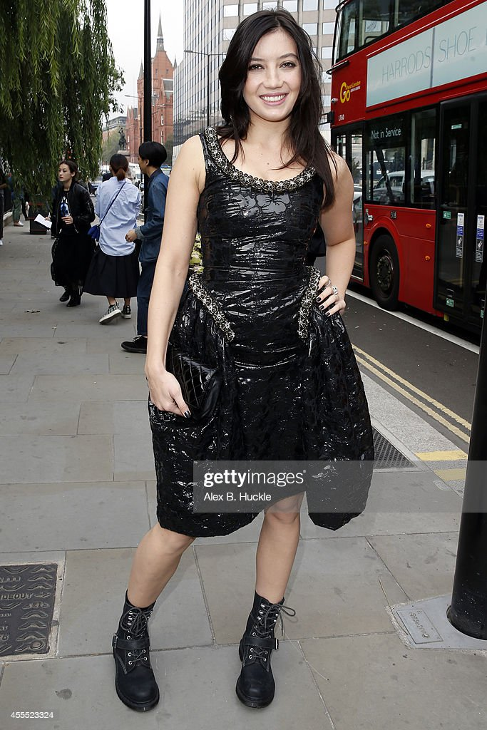 Daisy Lowe seen arriving at St Andrew Holbron for the Simone Rocha show on September 16 2014 in London England Photo by Alex Huckle/GC Images