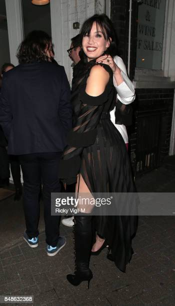Daisy Lowe seen at LFW s/s 2018 OffWhite x Mytheresacom intimate dinner at St John Bar Restaurant during London Fashion Week September 2017 on...