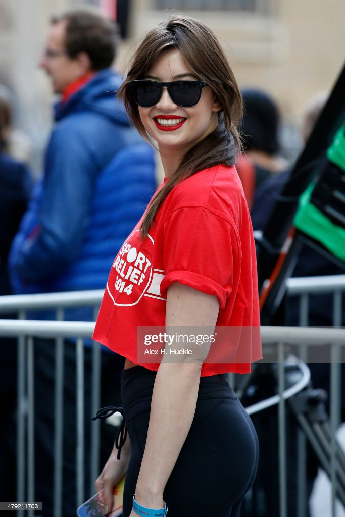 Daisy Lowe sighted at BBC Radio 1 studios for Sport Relief 'Radio Around The World' on March 17 2014 in London England