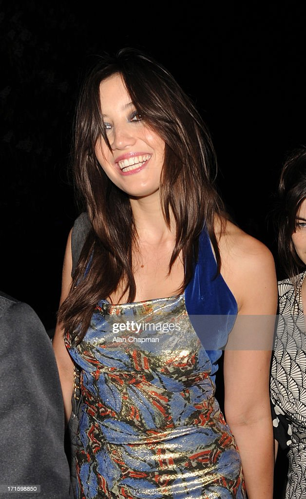 <a gi-track='captionPersonalityLinkClicked' href=/galleries/search?phrase=Daisy+Lowe&family=editorial&specificpeople=787647 ng-click='$event.stopPropagation()'>Daisy Lowe</a> sighting leaving the Serpentine Summer Party on June 26, 2013 in London, England.