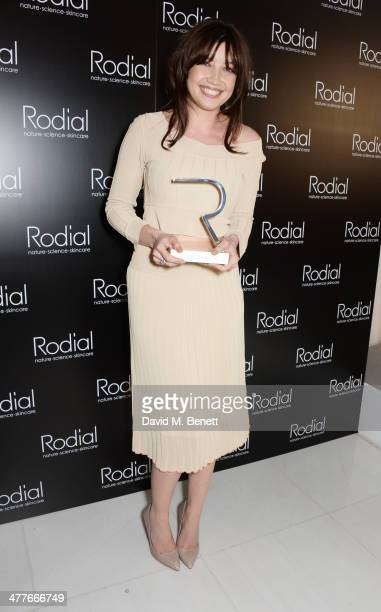 Daisy Lowe winner of the Woman of the Year award attends the 5th annual Rodial Beautiful Awards to celebrate women of style beauty and elegance at St...
