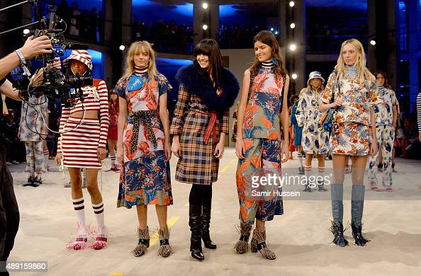 Daisy Lowe with models on the runway at the House of Holland show during London Fashion Week Spring/Summer 2016/17 on September 19 2015 in London...