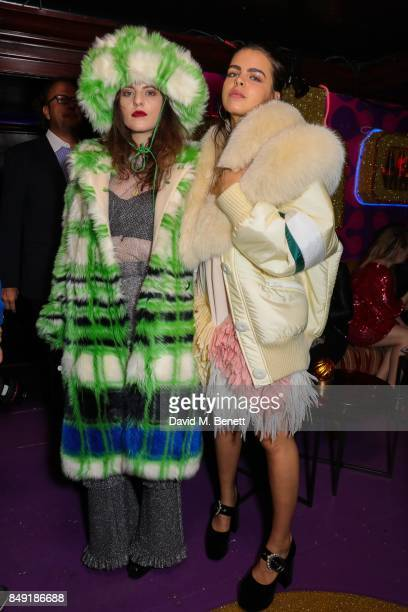 Daisy Maybe and Bee Beardsworth attends the Miu Miu LOVE party at Loulou's on September 18 2017 in London England
