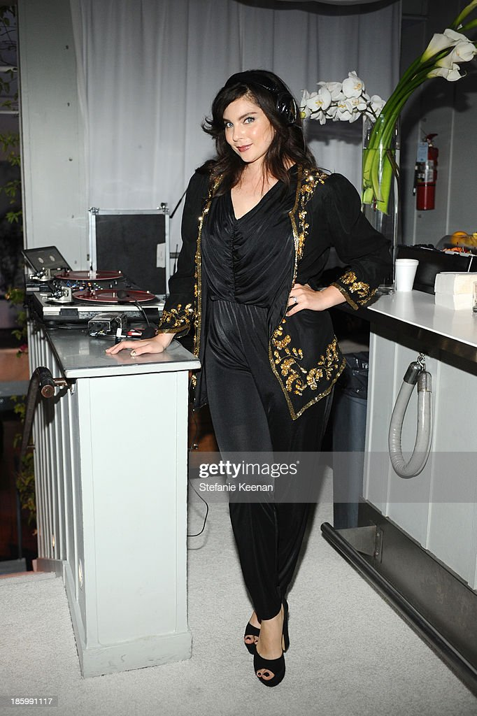 DJ Daisy O'Dell attends PANDORA ESSENCE COLLECTION North America Launch Party at SkyBar at the Mondrian Los Angeles on October 26, 2013 in West Hollywood, California.