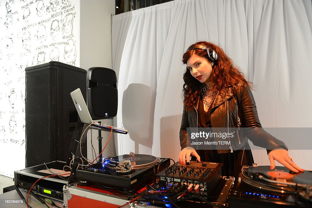 DJ Daisy O'Dell performs at the Art Of Elysium's 6th Annual Pieces Of Heaven powered by Ciroc Ultra Premium Vodka at the Ace Museum on February 20, 2013 in Los Angeles, California.