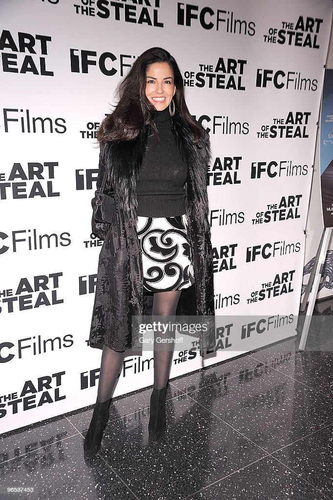Daisy Olarte de Kanavos attends the 'The Art of The Steal' New York premiere at MOMA on February 9 2010 in New York City