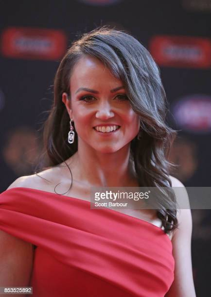 Daisy Pearce arrives ahead of the 2017 Brownlow Medal at Crown Entertainment Complex on September 25 2017 in Melbourne Australia
