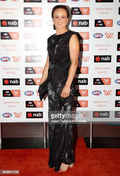Daisy Pearce of the Demons arrives during the The W Awards at the Peninsula on March 28 2017 in Melbourne Australia