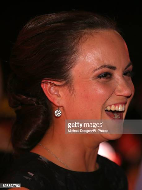 Daisy Pearce of the Demons looks on during the The W Awards at the Peninsula on March 28 2017 in Melbourne Australia
