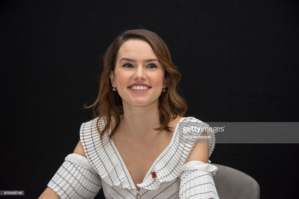 Daisy Ridley at the 'Murder on the Orient Express' Press Conference at the Claridges Hotel on November 3, 2017 in London, England.