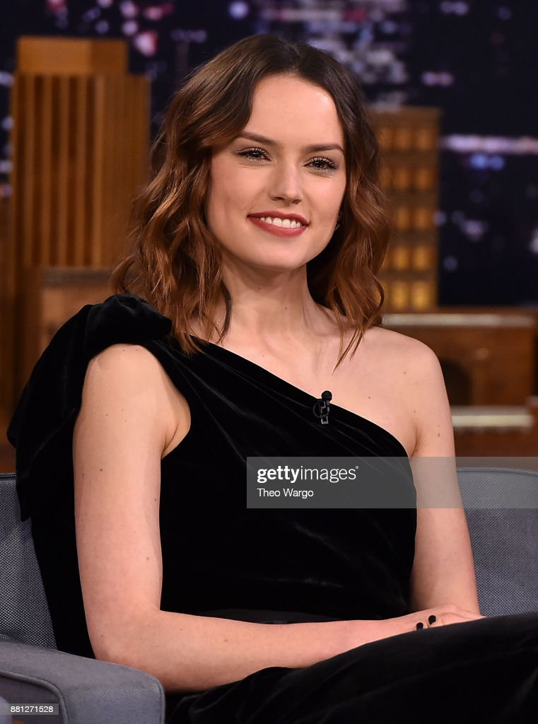 Daisy Ridley Visits 'The Tonight Show Starring Jimmy Fallon' at Rockefeller Center on November 28, 2017 in New York City.