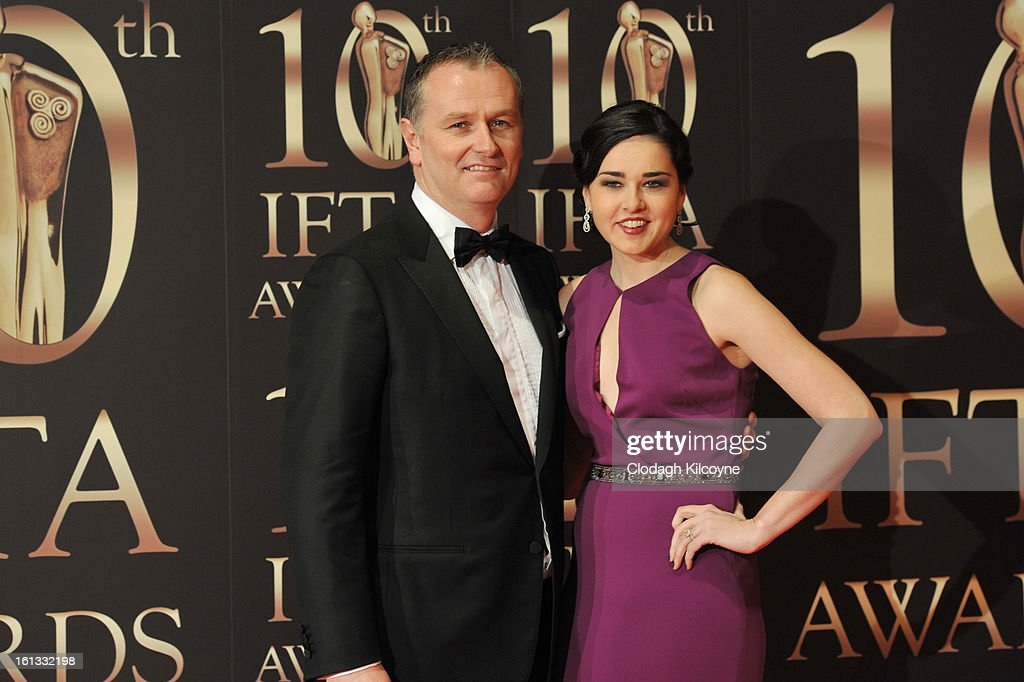 Daithi O'Se and Rita Talty attends the Irish Film and Television Awards at Convention Centre Dublin on February 9, 2013 in Dublin, Ireland.