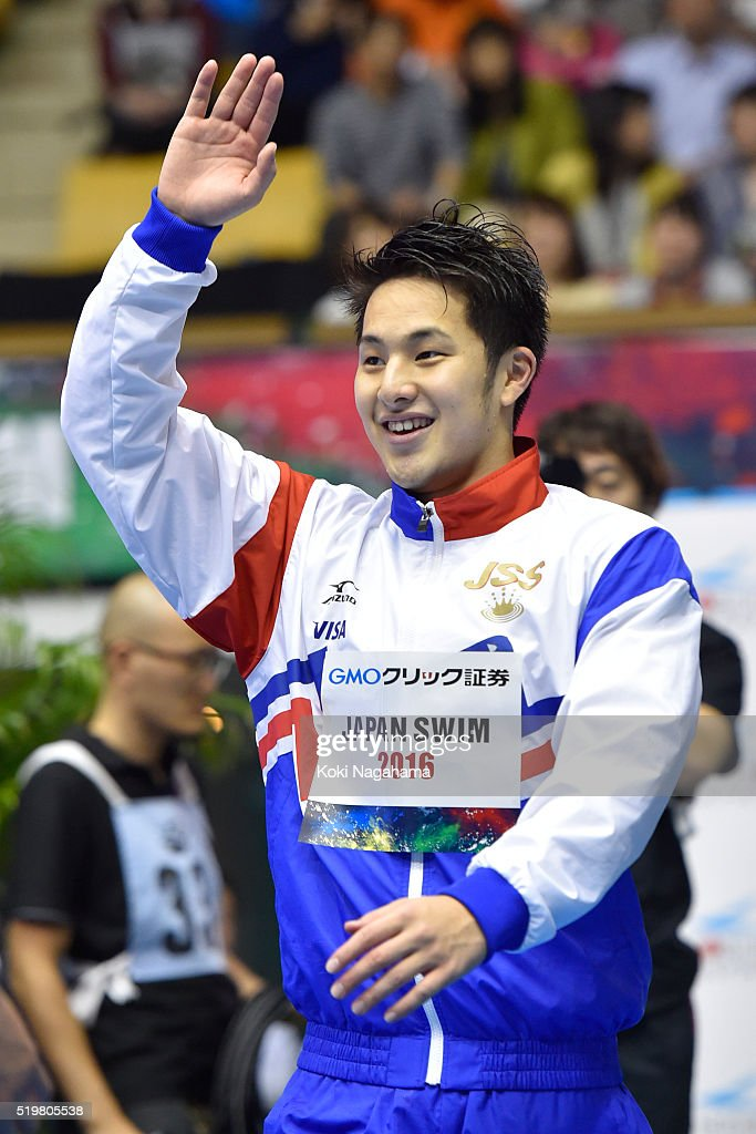 <a gi-track='captionPersonalityLinkClicked' href=/galleries/search?phrase=Daiya+Seto&family=editorial&specificpeople=5666115 ng-click='$event.stopPropagation()'>Daiya Seto</a> (Gold) celebrates after winning the Men's 200m Butterfly final during the Japan Swim 2016 at Tokyo Tatsumi International Swimming Pool on April 8, 2016 in Tokyo, Japan.