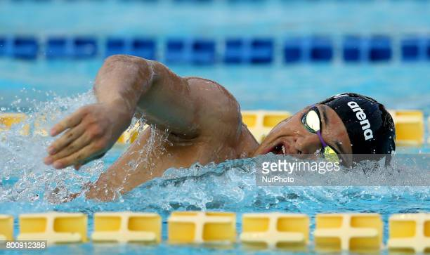 Daiya Seto competes in Men's 200m Individual Medley Final A during the international swimming competition Trofeo Settecolli at Piscine del Foro...