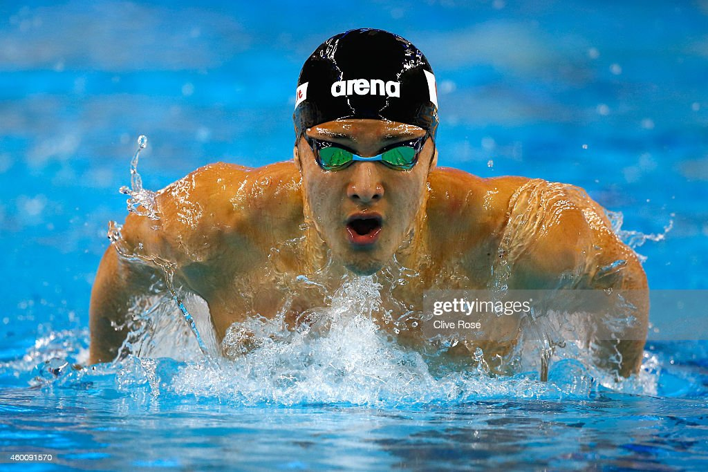 Daiya Seto of Japan competes in the Men's 200m Butterfly heats on day five of the 12th FINA World Swimming Championships (25m) at the Hamad Aquatic Centre on December 7, 2014 in Doha, Qatar.