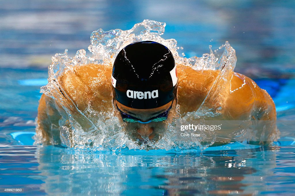 Daiya Seto of Japan competes in the Men's 400m Individual Medley heats on day two of the 12th FINA World Swimming Championships (25m) at the Hamad Aquatic Centre on December 4, 2014 in Doha, Qatar