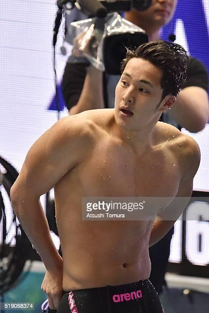Daiya Seto of Japan looks on during the Japan Swim 2016 day 1 at Tokyo Tatsumi International Swimming Pool on April 4 2016 in Tokyo Japan