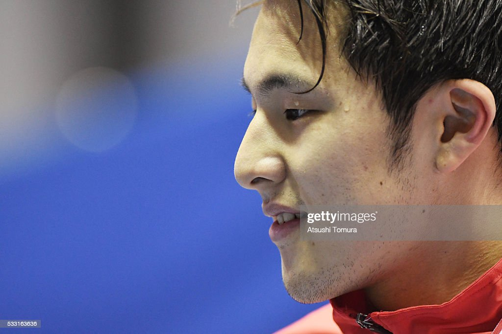 Daiya Seto of Japan smiles during the Japan Open 2016 at Tokyo Tatsumi International Swimming Pool on May 21, 2016 in Tokyo, Japan.