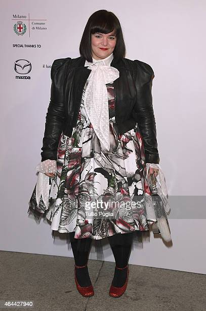 Daizy Shely attends the Vogue Talent's Cornercom on February 25 2015 in Milan Italy