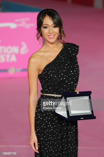 Dajana Roncione attends the winners photocall during the RomaFictionFest 2012 at Auditorium Parco Della Musica on October 5 2012 in Rome Italy
