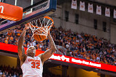 DaJuan Coleman of the Syracuse Orange dunks the ball during the second half against the Lehigh Mountain Hawks on November 13 2015 at The Carrier Dome...
