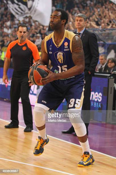 Dajuan Summers #35 of Budivelnik Kiev in action during the 20132014 Turkish Airlines Euroleague Regular Season Date 8 game between Partizan NIS...