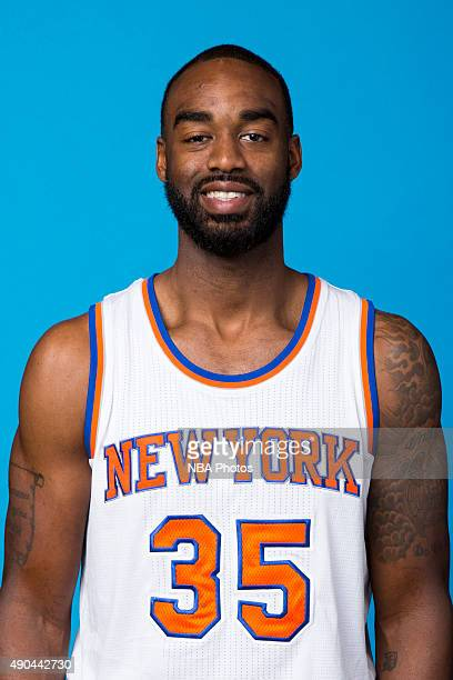 DaJuan Summers of the New York Knicks poses for a head shot at media day at the MSG Training Facility in Greenburgh New York on September 28 2015...
