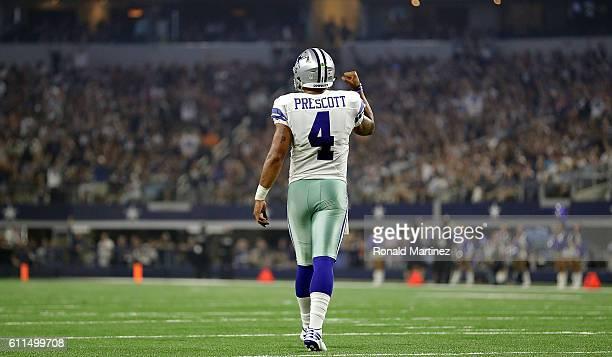 Dak Prescott of the Dallas Cowboys at ATT Stadium on September 25 2016 in Arlington Texas