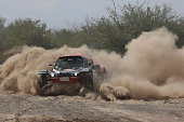 Dakar 2015 race the team of the Heart for cardiac surgery with the family Morel and MD Rallye the buggy Optimus of Pierre Lachaume n Argentina on...