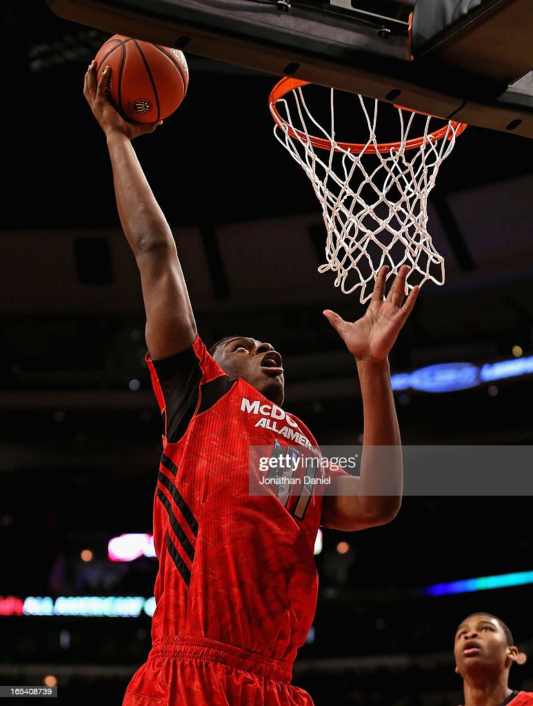 Dakari Jackson #41 of the East puts up a shot during the 2013 McDonald's All American game at United Center on April 3, 2013 in Chicago, Illinois. The West defeated the East 110-99.