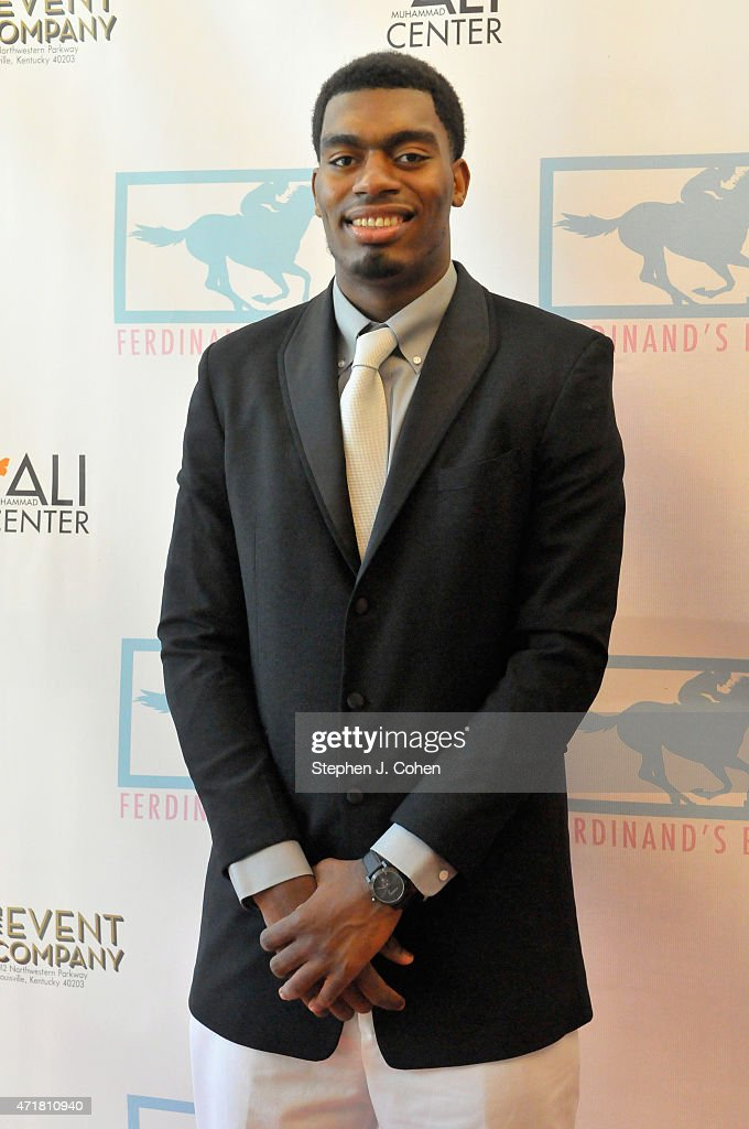 <a gi-track='captionPersonalityLinkClicked' href=/galleries/search?phrase=Dakari+Johnson&family=editorial&specificpeople=10784938 ng-click='$event.stopPropagation()'>Dakari Johnson</a> attends Ferdinand's Ball at Muhammad Ali Center on April 30, 2015 in Louisville, Kentucky.