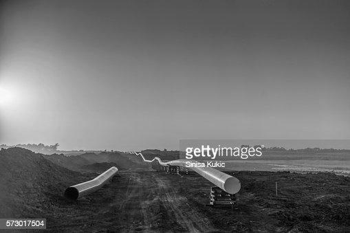 Dakota Access Pipeline Construction : Stock Photo
