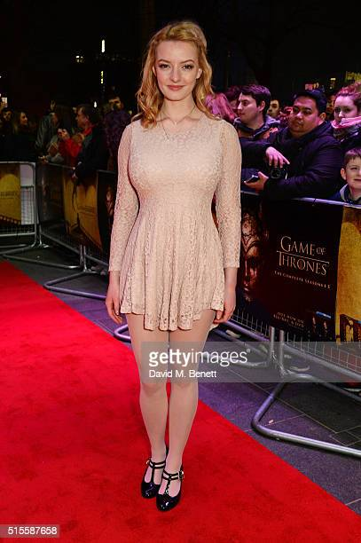 Dakota Blue Richards arrives for a Gala Screening of 'Game of Thrones' Season 5 Episode 8 'Hardhome' at Empire Leicester Square on March 14 2016 in...