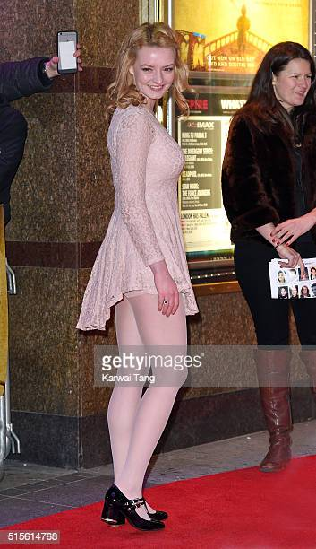 Dakota Blue Richards arrives for the Gala Screening of 'Game of Thrones' Season 5 Episode 8 'Hardhome' at Empire Leicester Square on March 14 2016 in...