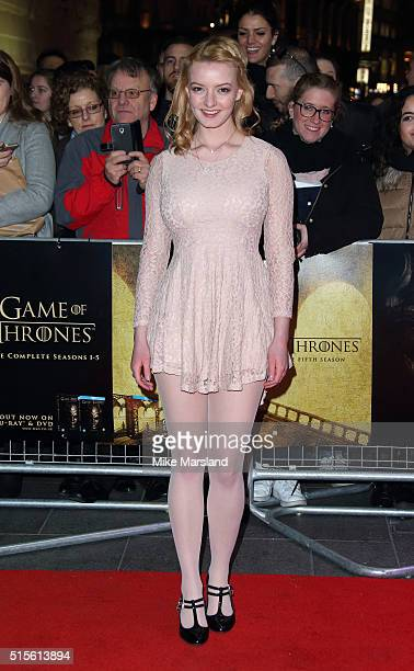 Dakota Blue Richards arrives for the Gala Screening of 'Game of Thrones' Season 5Episode 8'Hardhome' at Empire Leicester Square on March 14 2016 in...