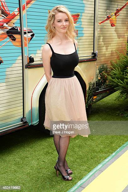 Dakota Blue Richards attends a gala screening of 'Planes 2 Fire and Rescue' at The Odeon Leicester Square on July 20 2014 in London England