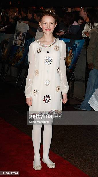 Dakota Blue Richards attends 'The Golden Compass' world premiere held at the Odeon Leicester Square on November 27 2007 in London England
