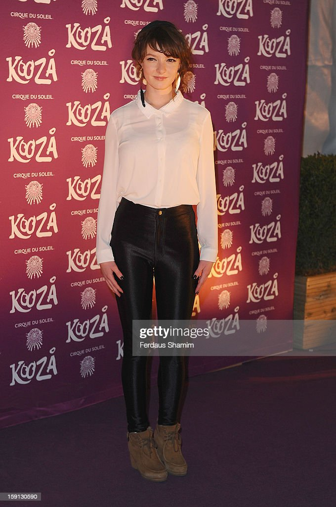 Dakota Blue Richards attends the opening night of Cirque Du Soleil's Kooza at Royal Albert Hall on January 8, 2013 in London, England.