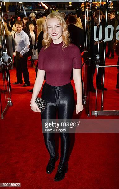 Dakota Blue Richards attends the UK Film Premiere of 'The Danish Girl' on December 8 2015 in London United Kingdom