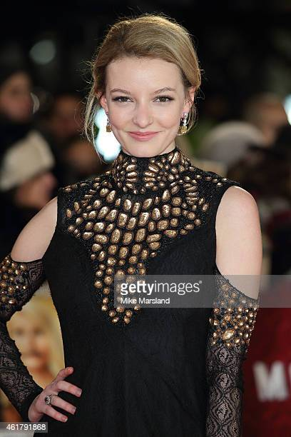 Dakota Blue Richards attends the UK Premiere of 'Mortdecai' at Empire Leicester Square on January 19 2015 in London England