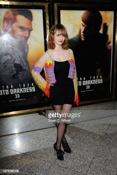 Dakota Blue Richards attends the UK Premiere of 'Star Trek Into Darkness' at The Empire Cinema on May 2 2013 in London England