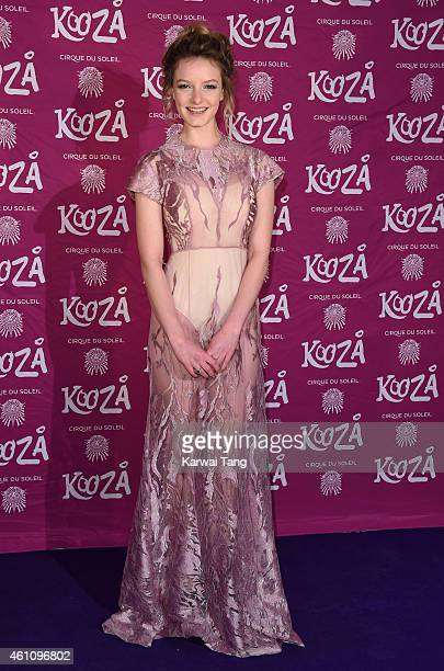 Dakota Blue Richards attends the VIP performance of 'Kooza' by Cirque Du Soleil at Royal Albert Hall on January 6 2015 in London England