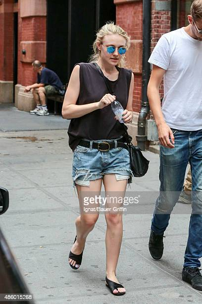 Dakota Fanning and Jamie Strachan are seen on August 30 2015 in New York City
